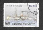 Stamps : Africa : São_Tomé_and_Príncipe :  752c - XXV Aniversario de la Organización Marítima Internacional de las Naciones Unidas