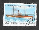 Stamps : Africa : São_Tomé_and_Príncipe :  752b - XXV Aniversario de la Organización Marítima Internacional de las Naciones Unidas