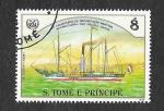 Stamps : Africa : São_Tomé_and_Príncipe :  755b - XXV Aniversario de la Organización Marítima Internacional de las Naciones Unidas
