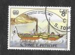 Stamps : Africa : São_Tomé_and_Príncipe :  755c - XXV Aniversario de la Organización Marítima Internacional de las Naciones Unidas