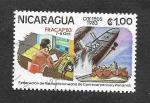 Sellos de America - Nicaragua -  1296 - Federación de Radioaficionados de Centroamérica y Panamá