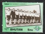 Stamps : Asia : Bhutan :  993 - Historia de la Copa del mundo de fútbol, Alemania 3 Hungría 2, Selección de Alemania