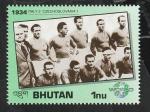 Stamps : Asia : Bhutan :  1003 - Historia de la Copa del mundo de fútbol, Italia 2 Checoslovaquia 1, Selección de Italia