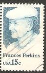 Sellos de America - Estados Unidos -  1280 - Frances Perkins, Primera mujer miembro del Gabinete Presidencial