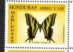 Stamps : America : Honduras :  Golondrina De Cebra (Eurytides marcellus)