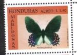 Stamps : America : Honduras :  Corazón de ganado manchado de rosa (Parides photinus)
