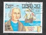Sellos de Asia - Laos -  489 - Exploradores y sus Barcos