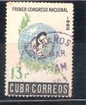 Sellos del Mundo : America : Cuba : RESERVADO JAVIVI Congreso Nacional de mujeres