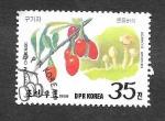 Stamps North Korea -  2819 - Champiñones y Frutas Silvestres