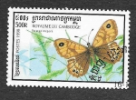 Stamps Cambodia -  1722 - Pararge Megera