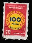 Stamps Uruguay -  Centenario Organización Armenia Hnchakian