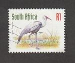Sellos de Africa - Sudáfrica -  Grulla carunculada