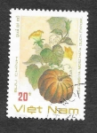 Stamps Vietnam -  Frutas y Verduras