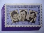 Stamps El Salvador -  Sesquicentenario del Primer Grito de Independencia de centro América 5 de Nov. de 1811 .