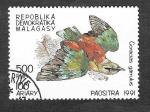 Sellos de Africa - Madagascar -  1034 - Carraca Europea