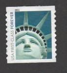Stamps United States -  Cabeza estatua libertad