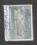 Stamps Greece -  Estatua de doncella con velo