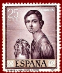 Stamps of the world : Spain :  Edifil 1657 La niña de la jarra (Romero de Torres) 0,25
