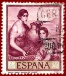 Stamps Spain -  Edifil 1663 Marta y María (Romero de Torres) 2,50