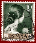 Stamps of the world : Spain :  Edifil 1666 Viva el pelo (Romero de Torres) 10