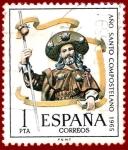 Sellos del Mundo : Europa : España : Edifil 1672 Año santo compostelano 1965 1