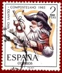 Sellos del Mundo : Europa : España : Edifil 1673 Año santo compostelano 1965 2