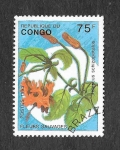 Stamps Republic of the Congo -  Flores Salvajes