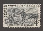 Sellos de America - Estados Unidos -  Centenario descubrimiento de la las minas de plata