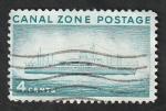 Sellos de America - Panamá -  CANAL ZONE - 121 - Paquebot Ancon
