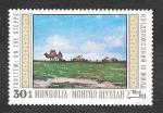 Sellos de Asia - Mongolia -  546 - Pinturas del Museo Nacional