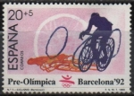 """Stamps of the world : Spain :  Barcelona ´92 II serie pre-Olimpica """" Ciclismo  """""""