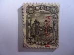 Stamps : America : Mexico :  San Andrés Chalchicomula (Ciudad Serdan) - Pico de Orizaba - Volcán-