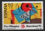 Sellos de Europa - España -  JUEGOS  PRE-OLÍMPICOS  BARCELONA  1992.  BALONCESTO.