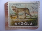 Stamps : Africa : Angola :  Leopardo - Panthera (Pardus shortridgei) - Fauna Africana.