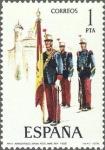 Stamps Europe - Spain -  2451 - Uniformes militares - Abanderado de Infantería Regimiento Inmemorial del Rey 1908