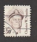 Stamps United States -  Chester W. Nimitz, Almirante