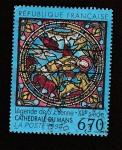 Stamps France -  Vidrieras Leyenda San Esteban siglo XII