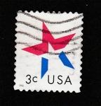 Sellos de America - Estados Unidos -  Estrella 5 puntas