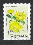 Sellos de Asia - Vietnam -  967 - Crisantemo Amarillo