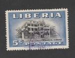Stamps Liberia -  Edificio legislativo en Monrovia