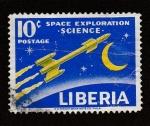 Stamps Liberia -  Exploración del espacio