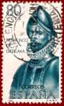 Sellos del Mundo : Europa : España : Edifil 1680 Francisco de Orellana 0,80