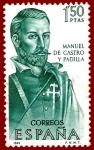 Stamps Europe - Spain -  Edifil 1754 Manuel de Castro y Padilla 1,50