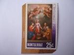 Sellos de Europa - Reino Unido -  Montserrat-Colonias - Navidad 1968 - las Dos Trinidades- Oleo del Pintor Español,Bartolomé Esteban M