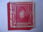 Sellos de America - El Salvador -  Presbítero y Doctor  Isidro  Menéndez (1795-1858) Padre de la Legislación Salvadoreña.