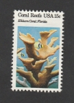 Stamps : America : United_States :  arrecifes de coral.Florida