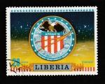 Stamps : Africa : Liberia :  Emblema del Apollo 16