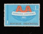 Stamps : Asia : Indonesia :  Conferencia de periodistas
