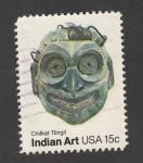 Stamps : America : United_States :  Arte indio Chikal Tingit