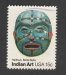 Stamps : America : United_States :  Arte indio. Heiltsuk